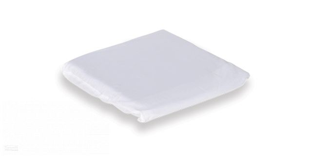 Multipurpose Cushion Poly Cotton Overslip - White